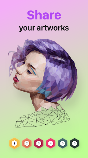 POLYGON : Coloring-Booku2219 Poly Art by Numbers filehippodl screenshot 10