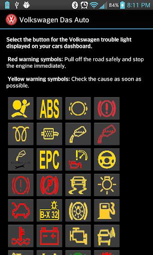 Volkswagen Dash Board Lights Screenshot 1 2