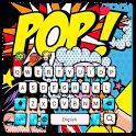 Pop style panda keyboard icon
