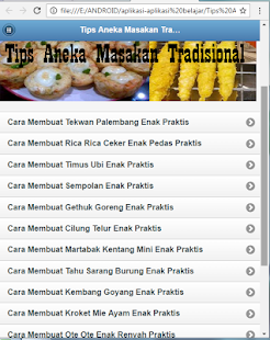 Traditional cuisine aneka tips apps on google play for Simulation installation cuisine
