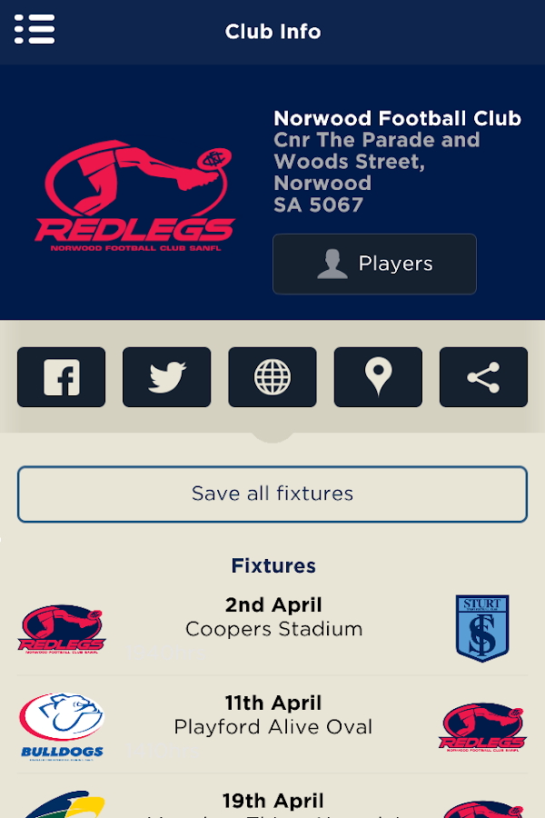 The Official Norwood FC App- screenshot