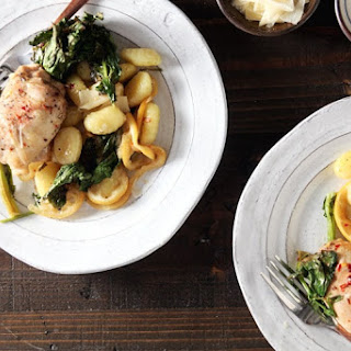 Sheet Pan Chicken and Gnocchi with Broccoli Rabe.