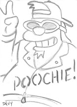 Photo: Davy Lauterbach Custom 1/1 Sketch Card (the first person to ever draw Poochie!)