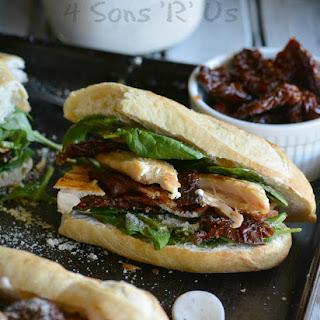 Chicken Caesar Club Style Sub Sandwich.