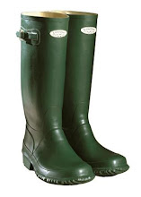 Photo: RUBBER  Image - a pair of Hunter 'Lowther' green rubber wellies.  Natural rubber is a natural plastic that comes from the Rubber Tree, originally found only in the Amazon rain forest. Local Indians tapped these trees and made items from the sap thousands of years ago.  It was first introduced to Europe, via France, in 1736, reaching England in 1770 when it's ability to rub out pencil marks was noticed by J.Priestly (who had 'discovered' oxygen!) : this gave it its name of 'rubber'. However, rubber, at this stage, had a major problem - it wasn't stable, and, in hot weather, would revert to a sticky gum, whilst, in cold weather, would become brittle.  Matters continued like this until a rubber fanatic - called Charles Goodyear - came along in 1834. His story is told here :  http://www.vintagebuttons.net/rubber4.html via a reprinted 1958 Reader's Digest article. His breakthrough came in 1839, when he inadvertently discovered the vulcanisation process that led to rubber finally becoming a stable product.