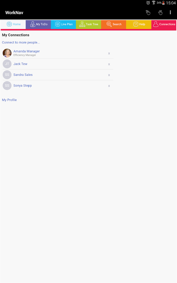 WorkNav- screenshot