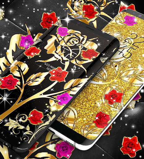 Download Gold rose live wallpaper for Pc