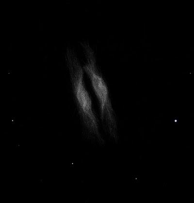"""Photo: NGC 7026 dans le Cygne, nébuleuse planétaire aussi appelée le """"cheese burger"""". Vue à 600X dans le T1m de Stellarzac le 15 juillet 2013."""