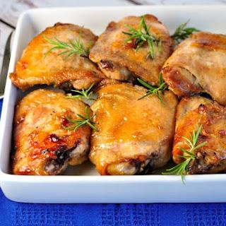 Maple-Glazed Chicken Thighs