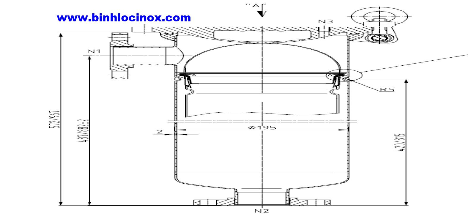hình ảnh cấu tạo bình lọc túi