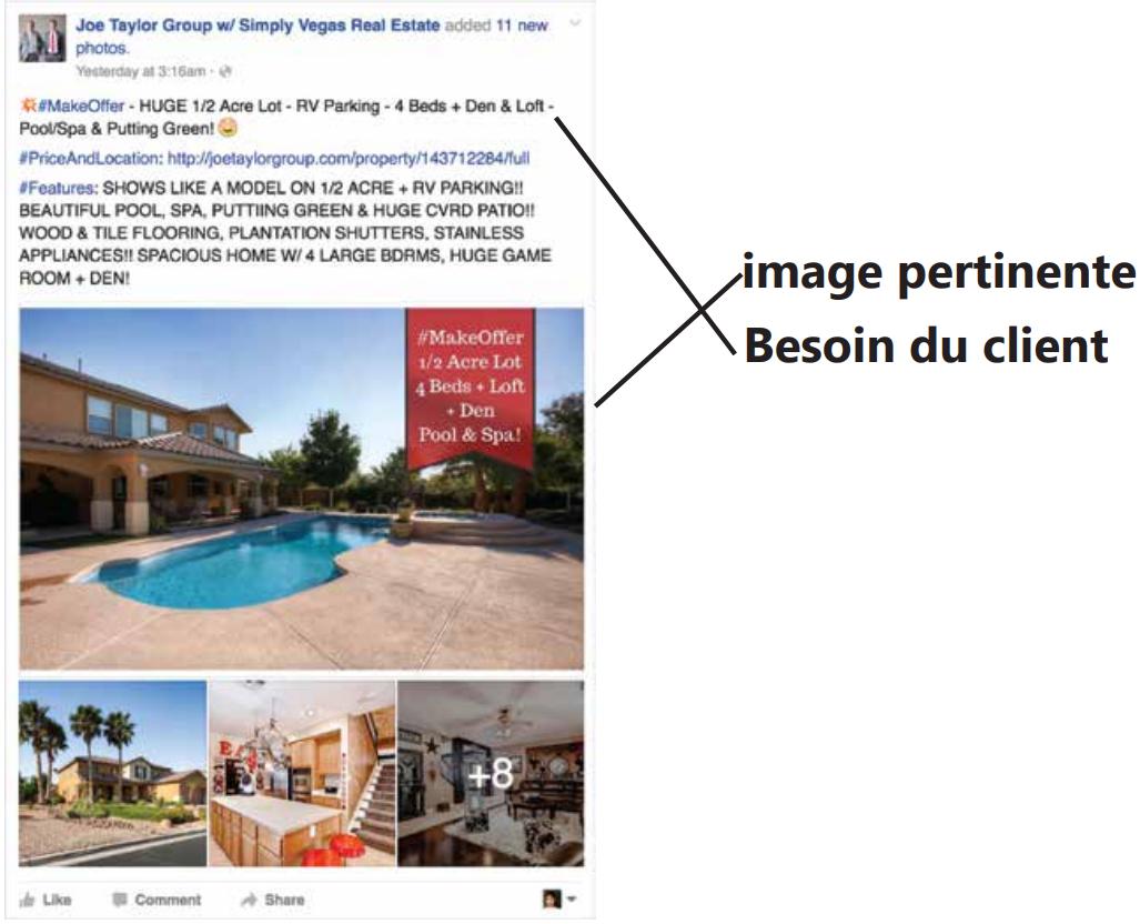 exemple publicité Facebook immobilier 1