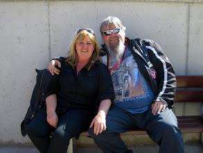 Photo: Pause in Hirschau: Karin & ROSCH (jetzt ungestört)