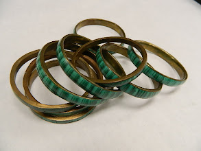 Photo: Malachite Bracelets from Zaire at Objets D'Art