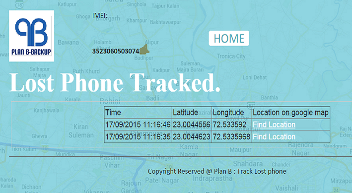 Plan B - Track Lost Phone- screenshot