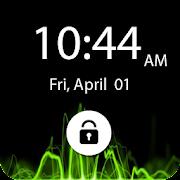 Cool Black Pin Lock Screen