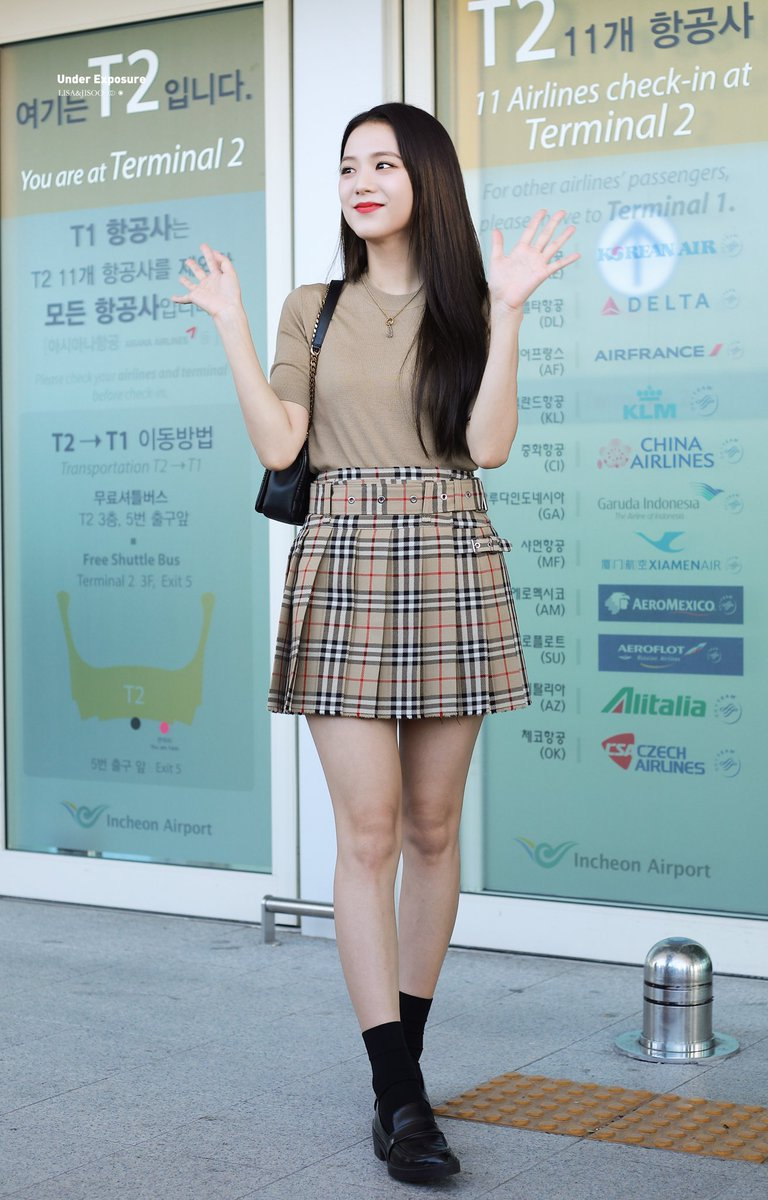 jisoo plaid 23