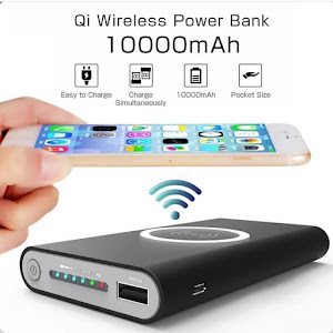 Baterie externa cu capacitate 10000 mAh wireless QI