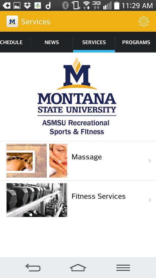 Montana State University Rec- screenshot