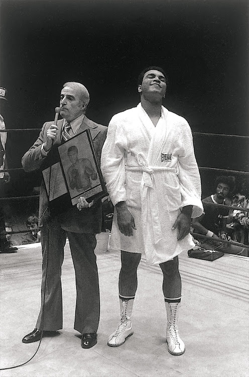 Muhammad Ali in the boxing ring in 1980.