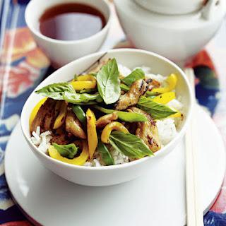 Thai Basil, Chicken and Snow Pea Stir-Fry.