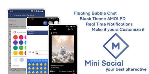 Mini Social - Your Social Network for Facebook 2.0.0 screenshots 8