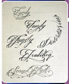 Tattoo Writing Styles Poster