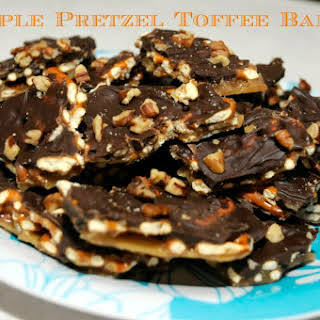 Simple Pretzel Toffee Bark.