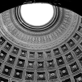 The Dome by Rita Uriel - Buildings & Architecture Architectural Detail ( church, rome, dome, skylight, geometric, italy, shapes, shapes geometric patterns ,  )