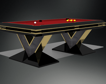 3D drawing of Pharaoh Pool table