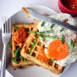 Feta, Spinach & Chorizo Waffles.