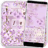Spring Flowers Cherry Blossoms Keyboard Android APK Download Free By Keyboard Theme Master