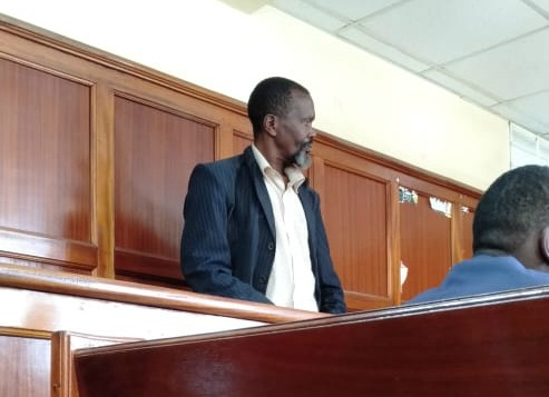 Wilson Mwangi Macharia appears before a court on Monday, March 11, 2019.