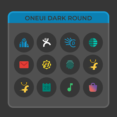 OneUIDark Round - Icon Pack Screenshot Image