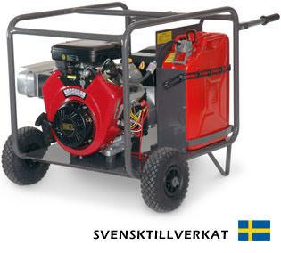 Bensinelverk KVM V 10000E inkl. hjulsats