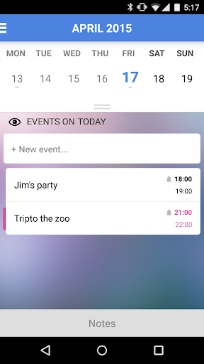 Daily: tasks and calendar