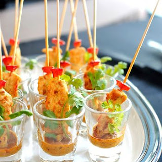 Thai Satay Stick Party Appetizer.