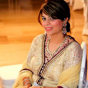 At Wedding  by Inderdeep Singh - People Portraits of Women ( nature, wedding, india, people, portrait )