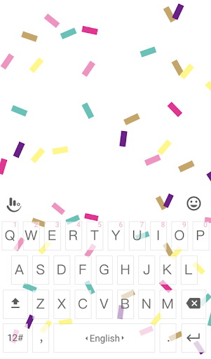 Colorful Ribbon Keyboard Theme
