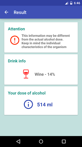 how much alcohol to drink? screenshot 3
