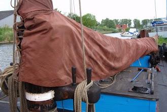 Photo: De zeilhuik is getaand en weer mooi bruin