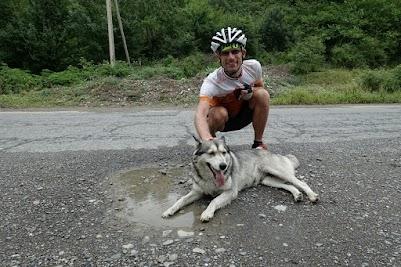 Dieser Hund folgte uns mehr als 10km.