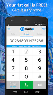 Mobu cheap international calls- screenshot thumbnail