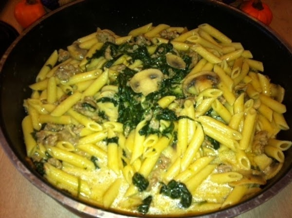 Penne With Sausage And Spinach Recipe
