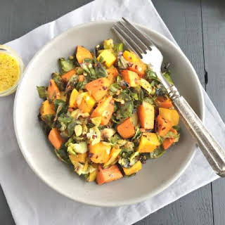 Brussels Sprouts Sweet Potato Salad.