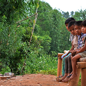 the tribal children love to rest on the winds by Priyojit Singh Akoijam - Babies & Children Children Candids