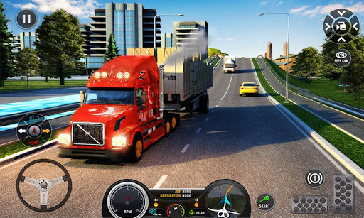 Euro Truck Driving Simulator Truck Transport Games  captures d'écran 1