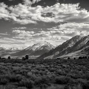 As far as... by Michael Keel - Black & White Landscapes ( mountains, sierra nevada, snow, valley, sierra )