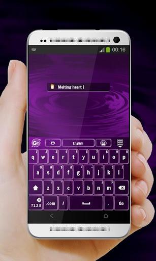 免費個人化App|紫色的愛情 GO Keyboard|阿達玩APP