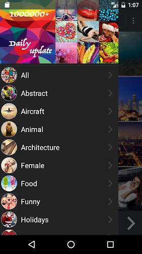 1,000,000 Wallpapers HD 4k(Best Theme App) Android App Screenshot