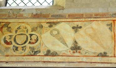 Photo: mittelalterliche Malerei in der Dorfkirche